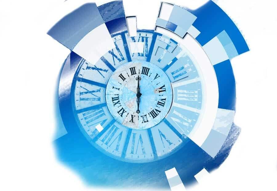 illustration stylisée d'une horloge